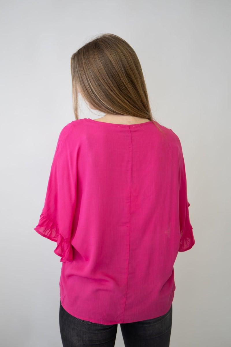 Flutter sleeve basic top