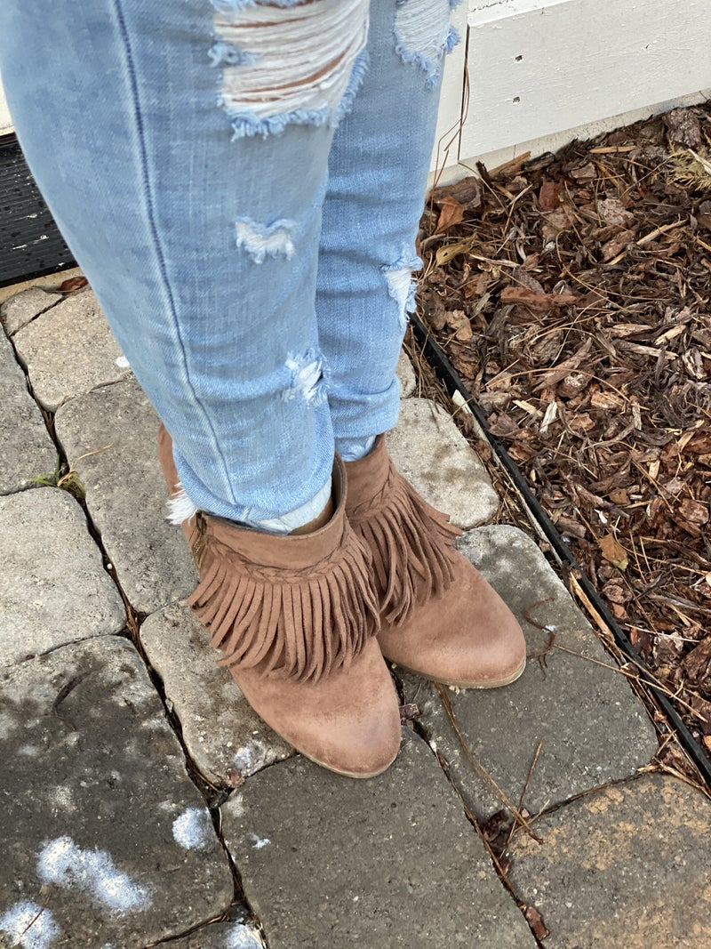 Remy's Fringe Booties