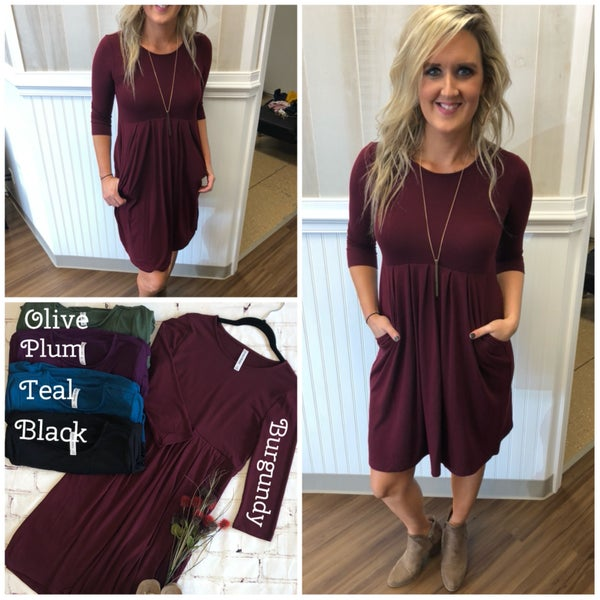 Pleated Dress with Pockets-Doorbuster!