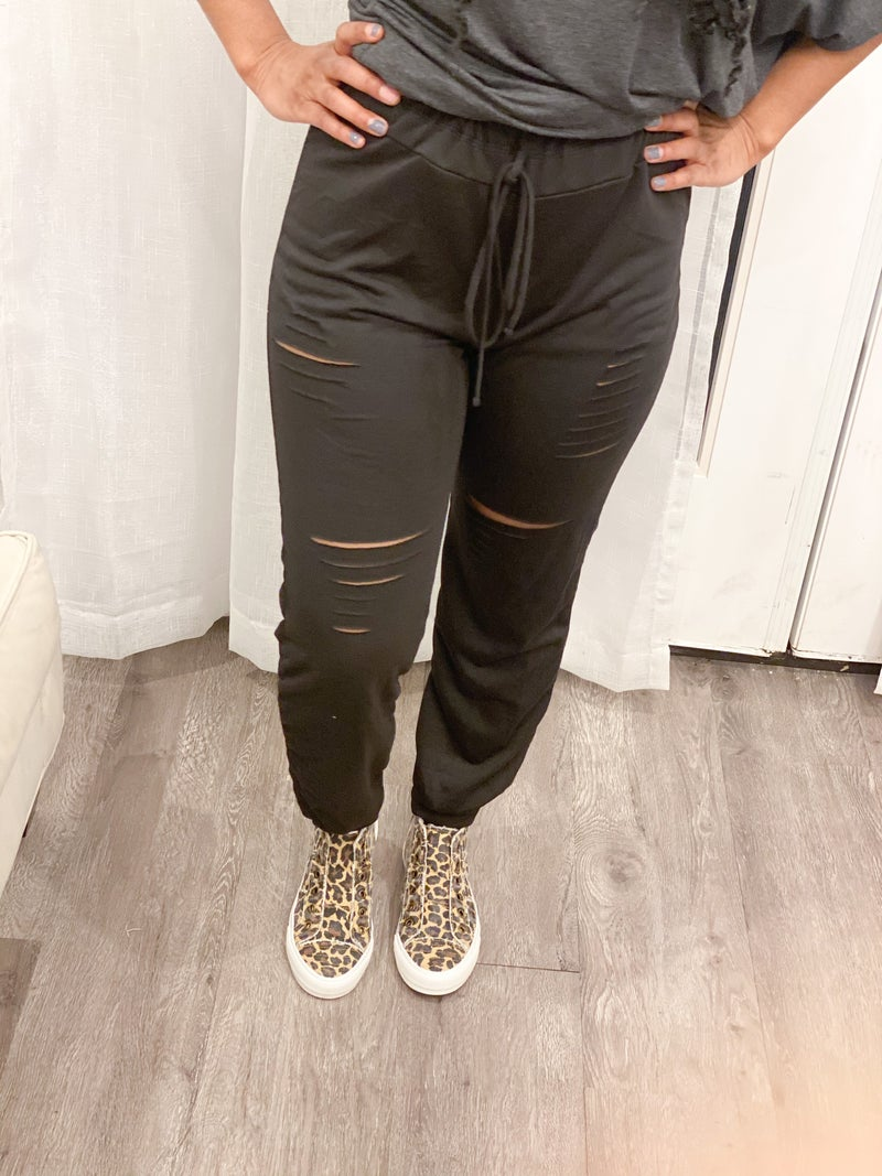 Distressed Comfy Pants
