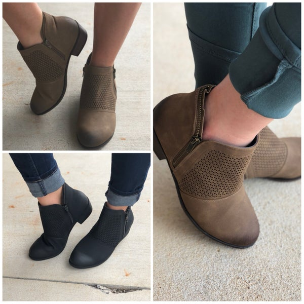Mesh Booties with Zippers all around
