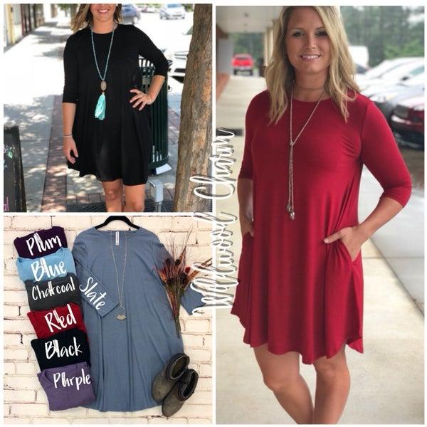 3/4 Sleeve Tunic/Dress