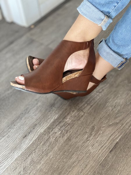 Peep Toe Wedges