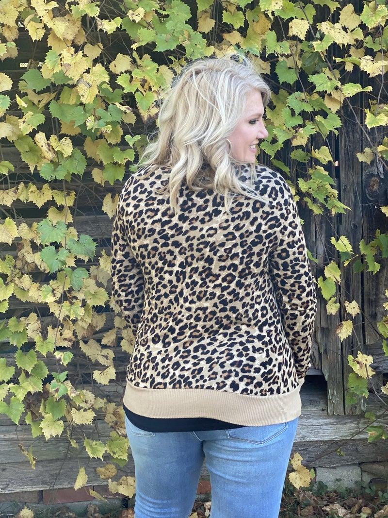Cheetah Snap Cardi
