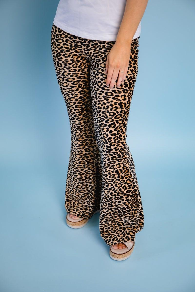 Leopard Flare Bottoms