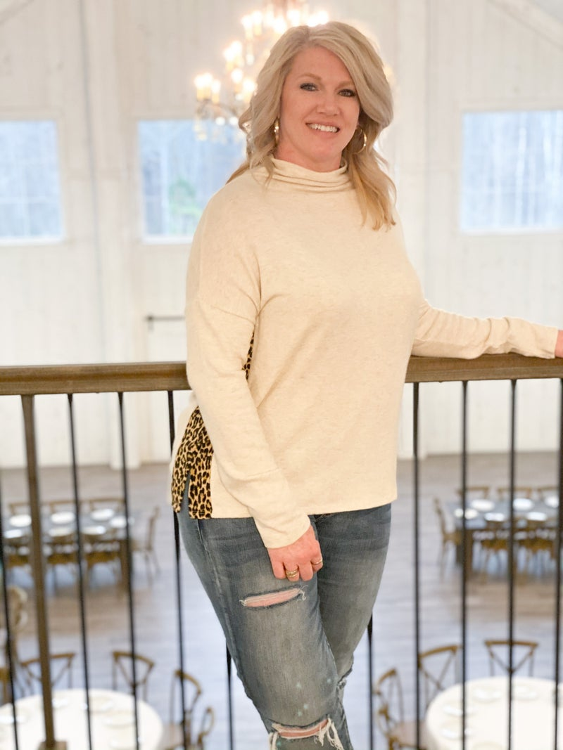 Leopard Style Top