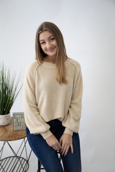 Reverse French Terry Sweater