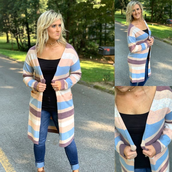 Cute color blocked cardigan