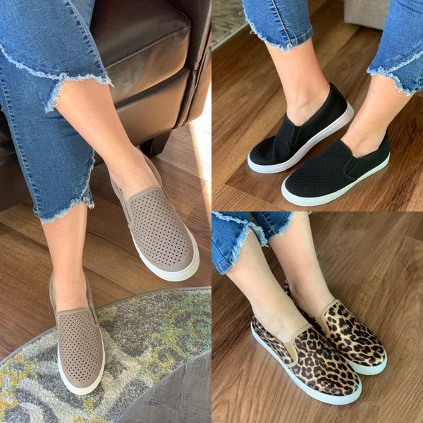 Busy bee slip ons