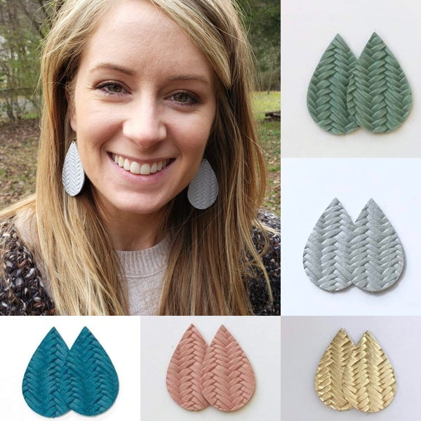 Basket Waeve Teardrop Earrings - Pre-Order, Ship time is 7-10 days