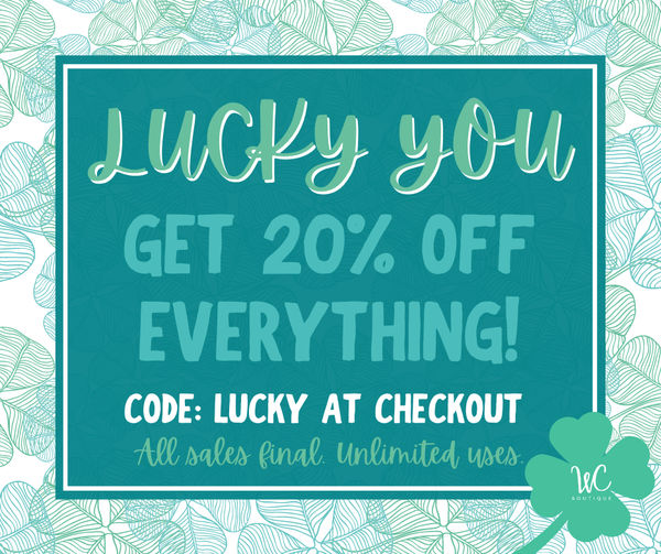 St. Patty's Day Sale!