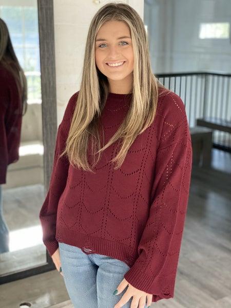 Scalloped Sweater