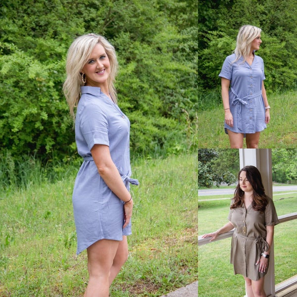 Basic Button Dress