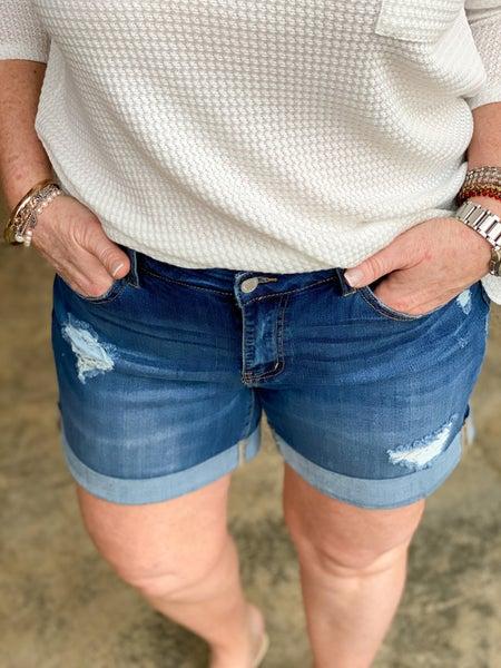 Boyfriend Cuffed Shorts *Final Sale*