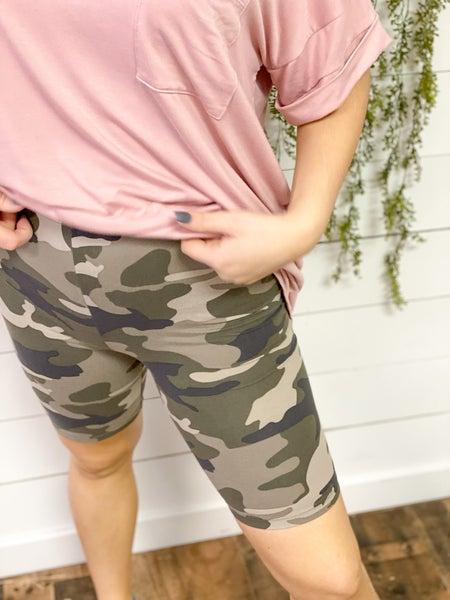 Printed Biker Shorts
