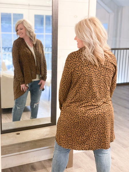 Lilly Leopard Cardi