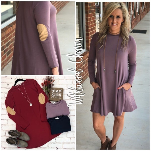 Swing Dress with elbow patches