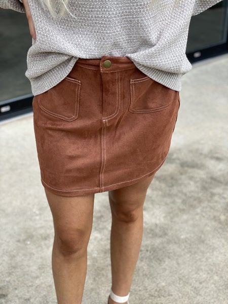Fab Fall Suede Skirt