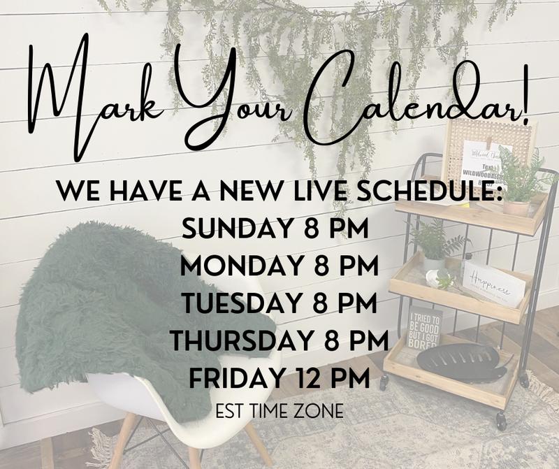 New LIVE Schedule!