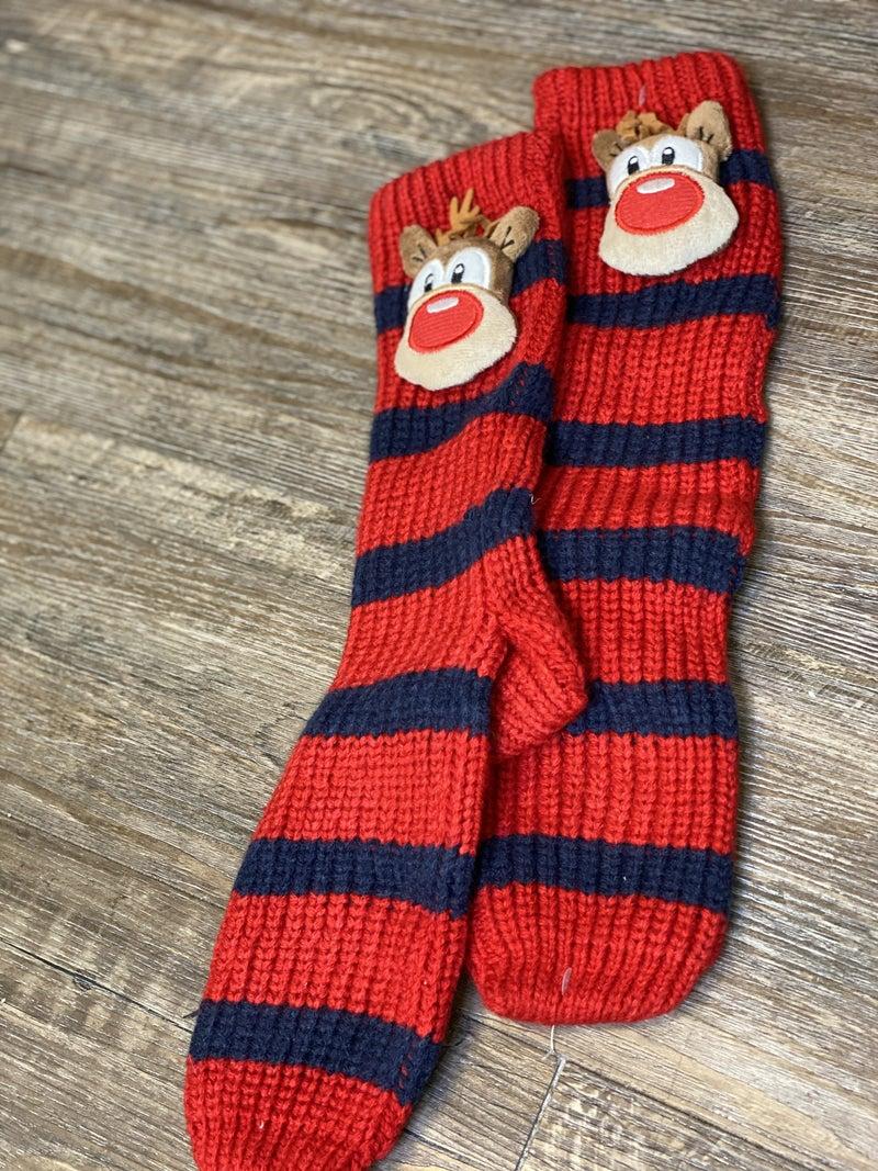 Reindeer Knit Socks