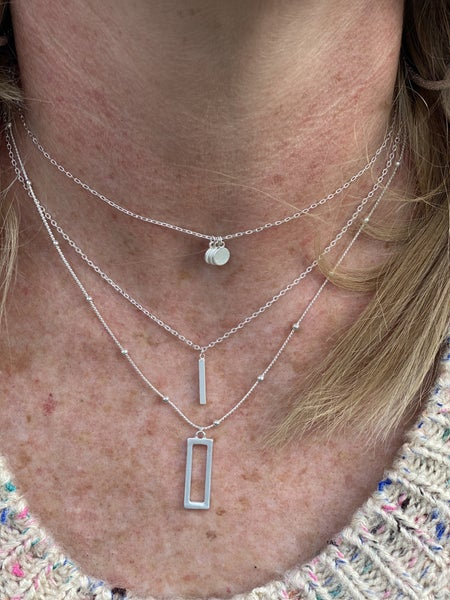 Multi Layer Silver Necklace