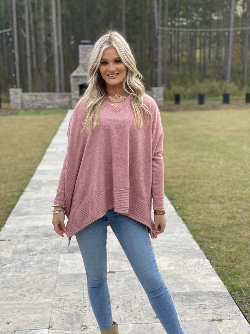 Oversized Vneck Top
