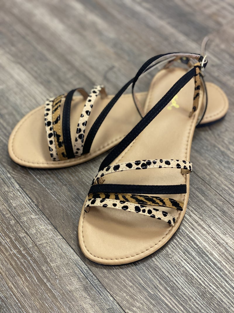 Strappy Leopard Sandals