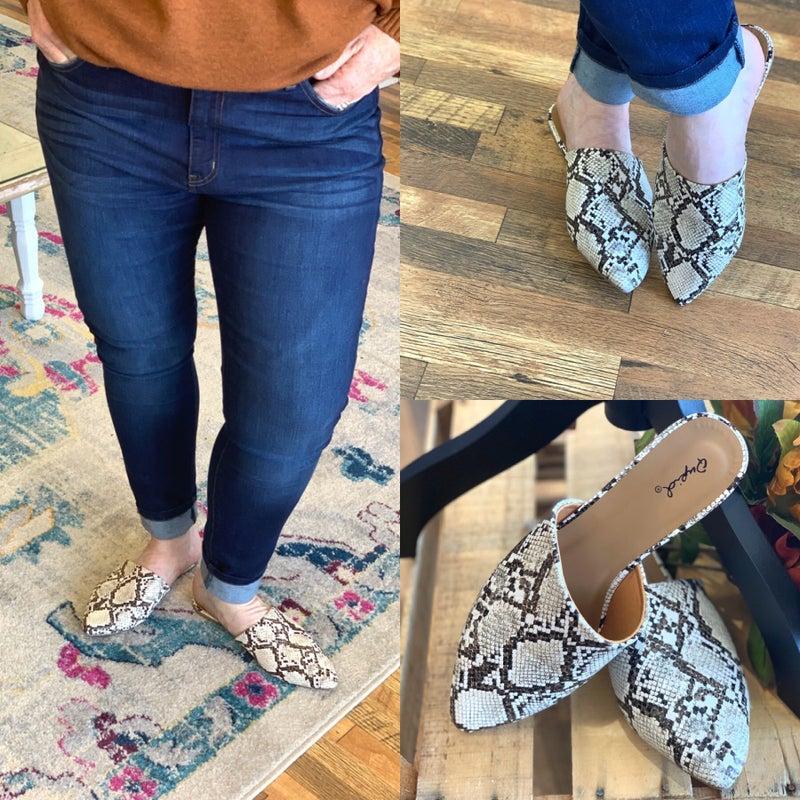 My snake slippers *Final Sale*