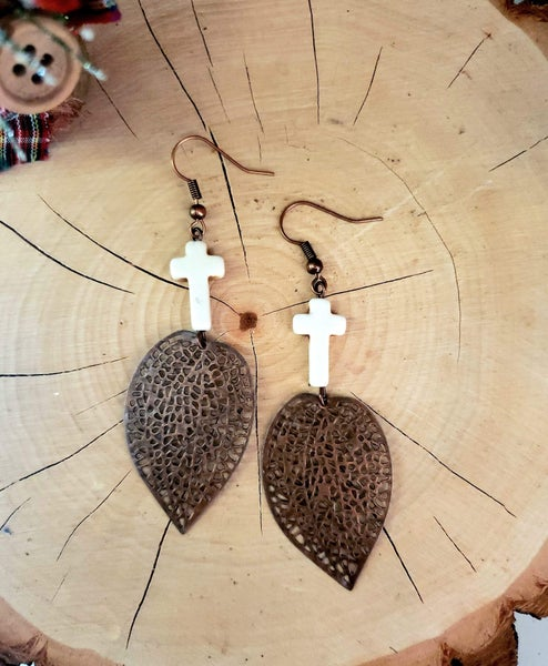 Light cross earrings  (Black Friday)