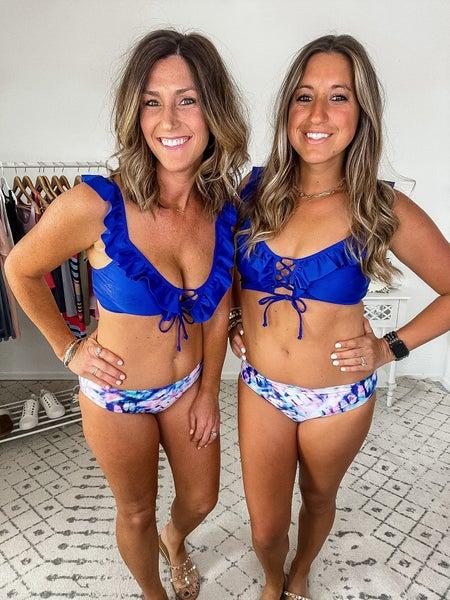 {Blue Tie Dye Bikini SwimSuit}