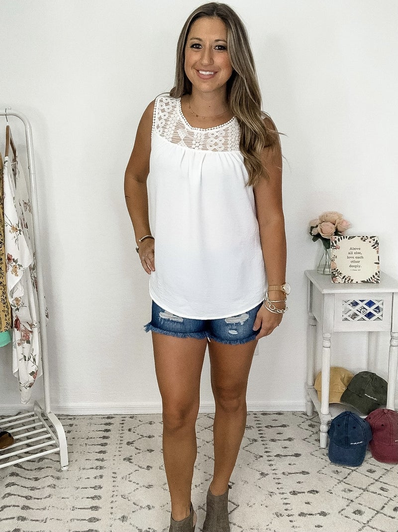 {White Laced Tank}