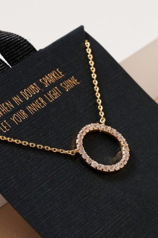 {Circle Pendant Necklace}