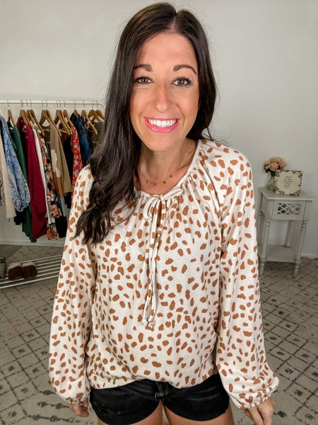 {Cheetah Puffed Top} *Final Sale*