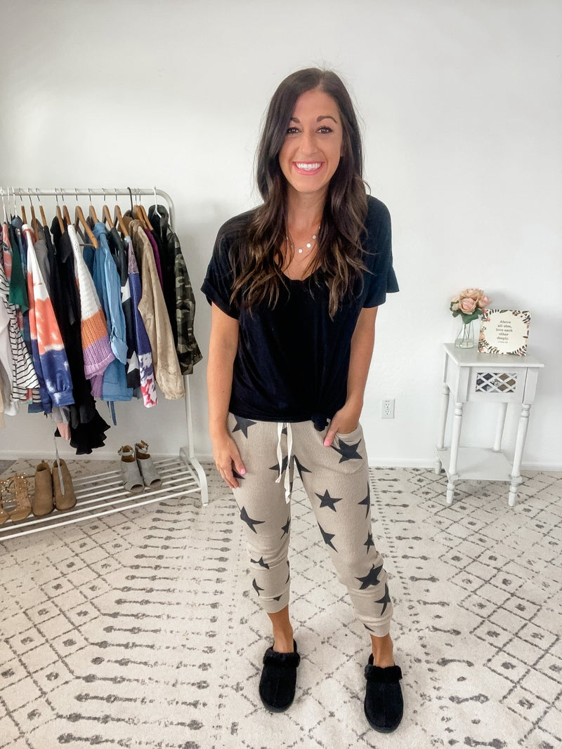 {Oatmeal Star Top and Pants}