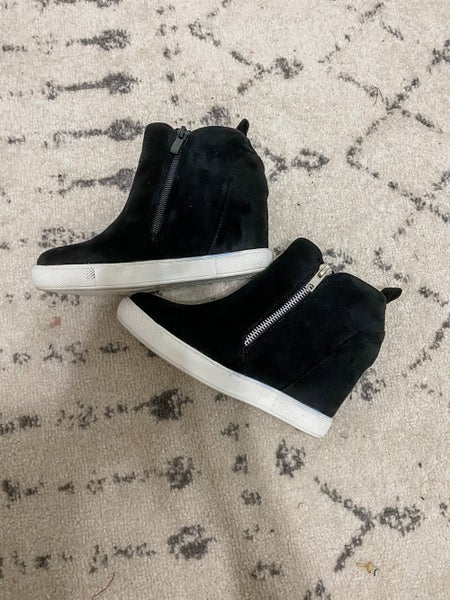 {Black Janna Wedged Sneaker} *Final Sale*