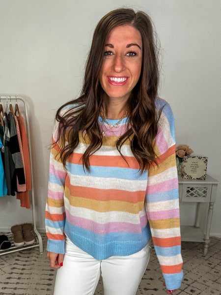{Pastel Boat Neck Sweater} *Final Sale*