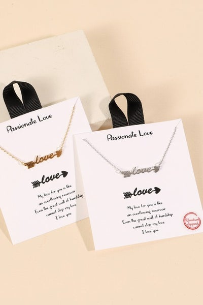 {Love Arrow Charm Necklace} *Final Sale*