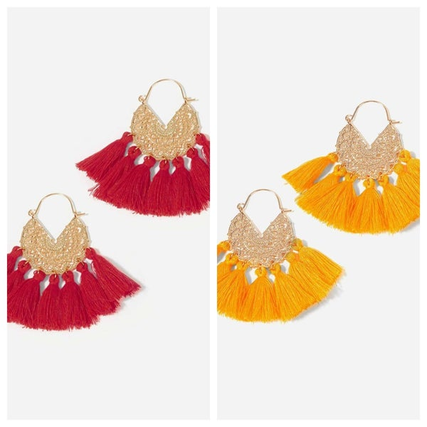 {Chiefs Fan Fringe Earrings} *Final Sale*