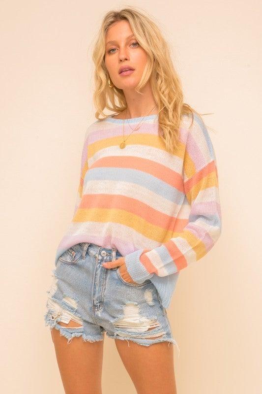 {Pastel Boat Neck Sweater} *Final Sale*