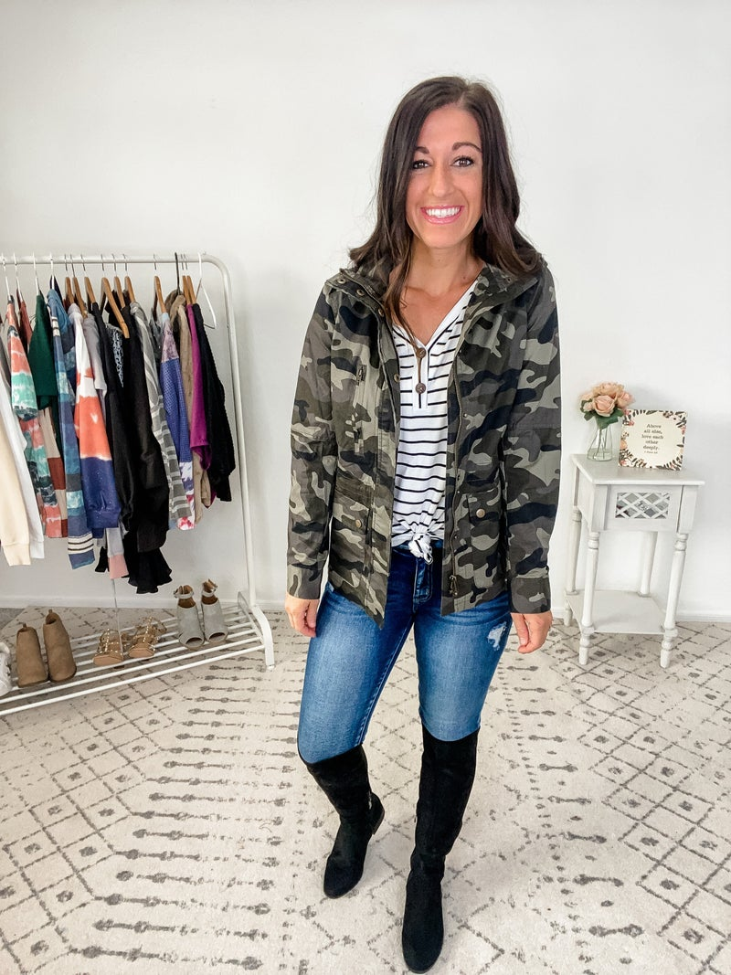 {Camo Me Crazy Jacket} *Final Sale*