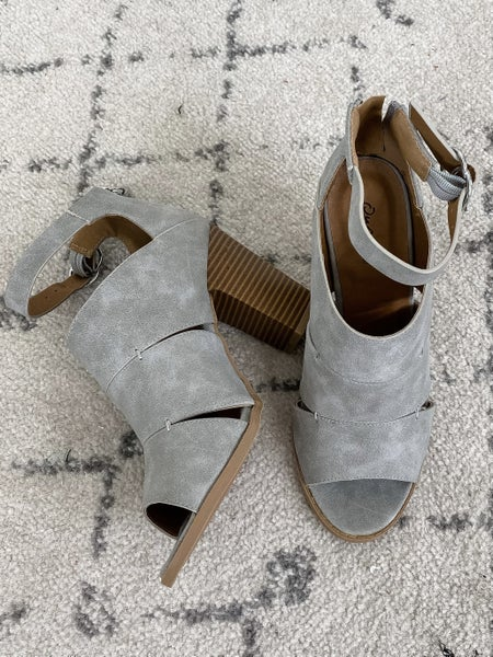 {Grey Cadence Heel} *Final Sale*