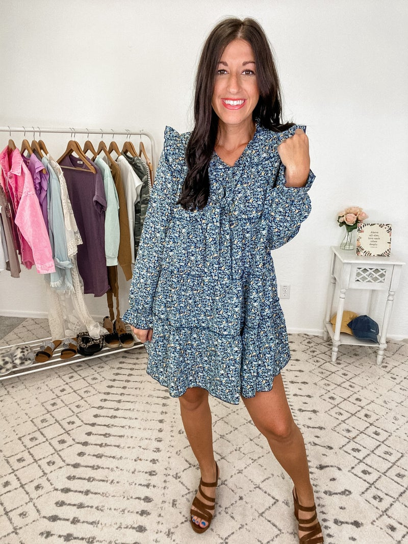 {Ditzy Floral Ruffled Tiered Dress} *Final Sale*