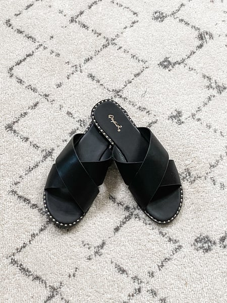 {Black Criss Cross Flats} *Final Sale*