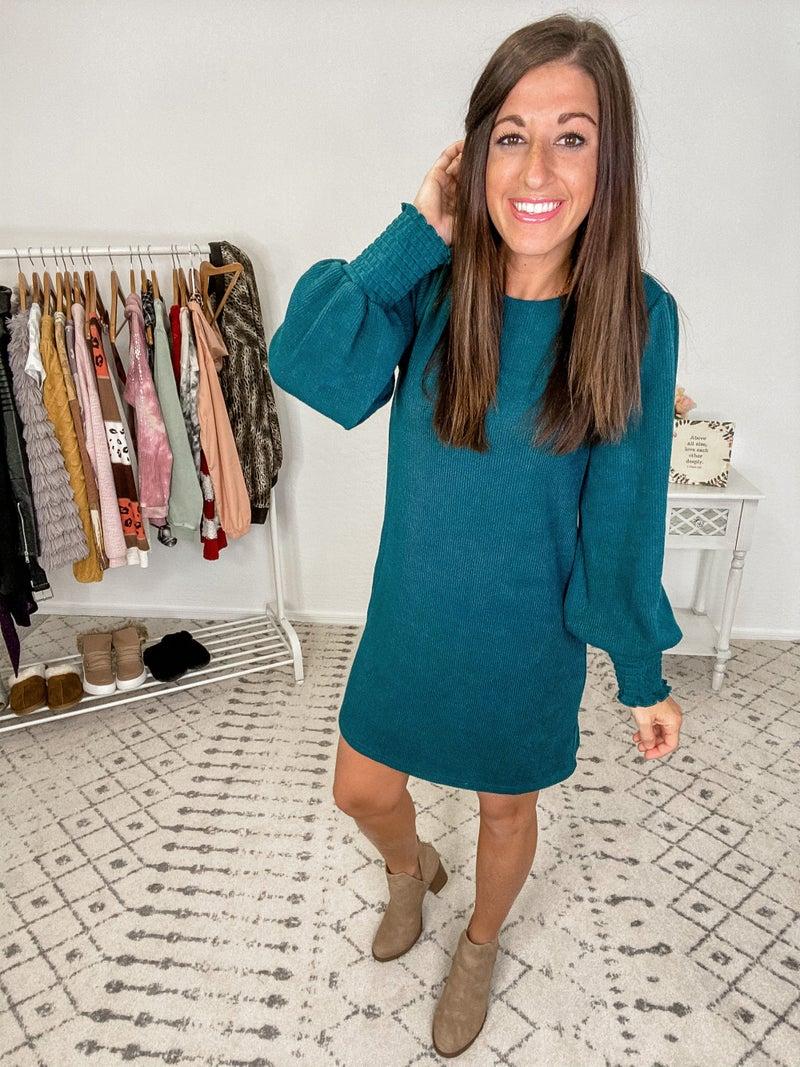 {Smocked Sweater Dress}