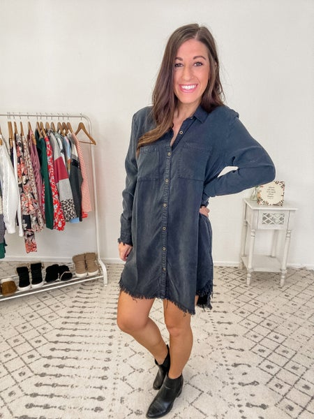 {Denim Button Dress} *Final Sale*