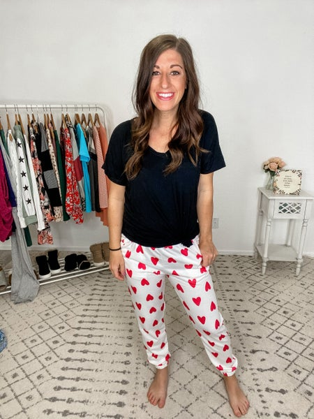{Heart Print Pants} *Final Sale*
