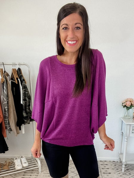 {Pretty in Plum Dolman} *Final Sale*