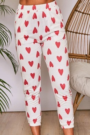 {Heart Print Pants} *Final Sale*