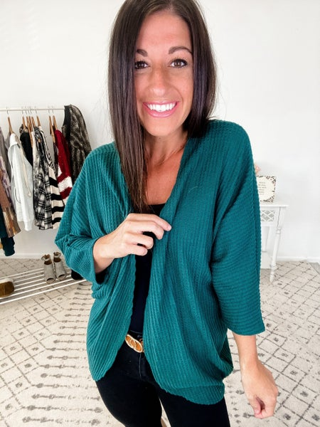 {Hunter Green Everyday Cardigan} *Final Sale*