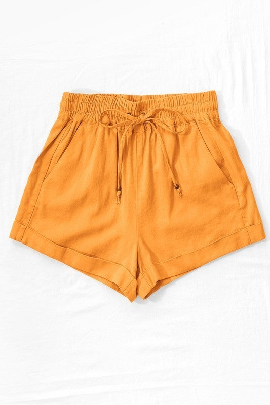 {Mango Linen Shorts}